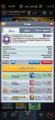 Clash Royale Clan Manager Screenshot #1