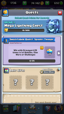 Clash Royale Season 4 Shocktober Screenshot #7