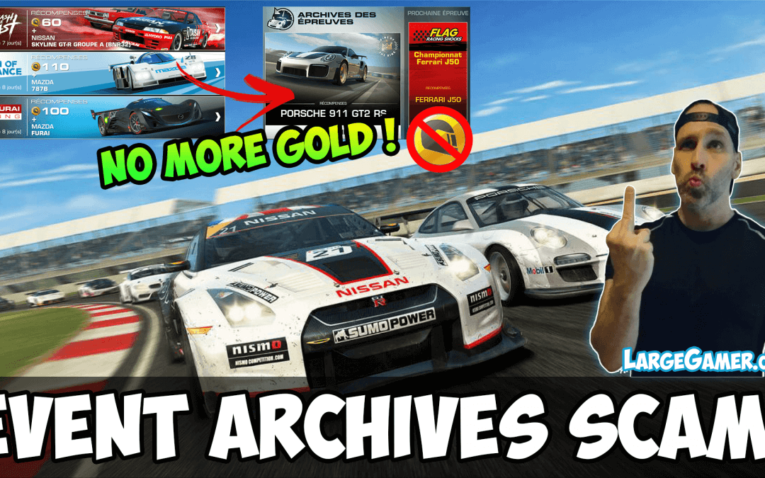 Real Racing 3 Event Archives Scam – No more Gold Rewards